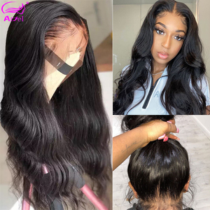 HD Transparent 360 Lace Frontal Wigs Wavy Body Wave Lace Front Wig 30 26 Inch Full Lace Front Human Hair Wigs Remy Brazilian Wig(China)