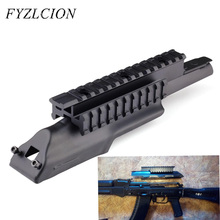 Tri-Rail Top Receiver Cover 5th Generation Tactical Picatinny Style Mount Rail AK-47 Matte For Hunting Scope