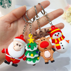 Merry Christmas Navidad Christmas Decoration Santa Claus Elk Snowman Keychain New Year Decoration 2021 Children Gift Xmas Noel