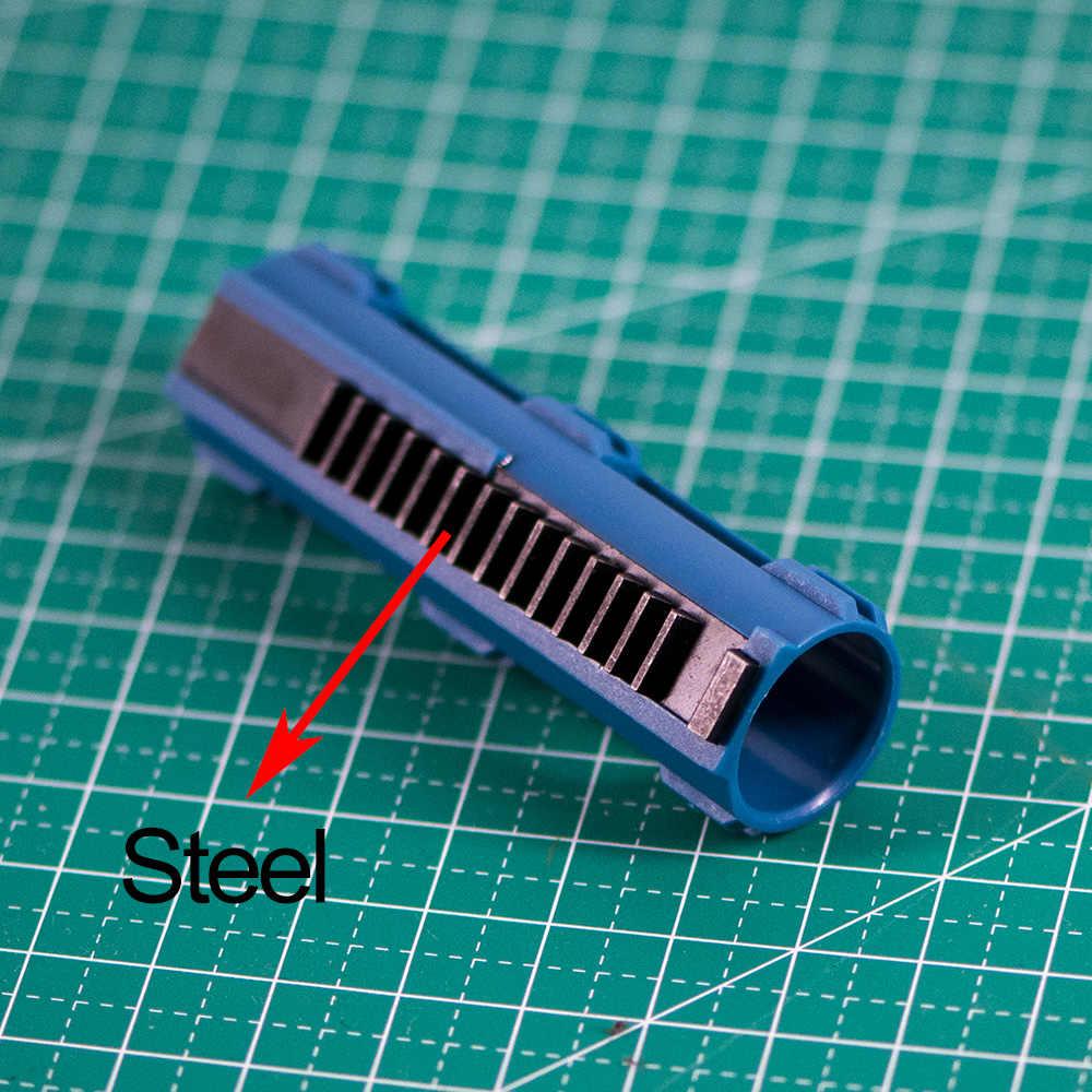 Pistão de carbono reforçado de plástico, todo o aço 14, escada para airsoft aeg gel blaster m4 jinming9 bd556, acessórios de paintball