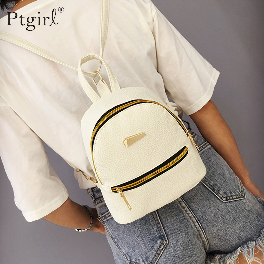 Fashion Women Mini Backpack PU Leather College Satchel School Rucksack Ptgirl Ladies Girls Casual Travel Bags Sac Mochilas Mujer