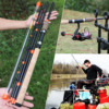 Sougayilang New Feeder Fishing Rod Lengthened Handle 6 Sections Fishing Rod L M H Power Carbon Fiber Travel Rod Fishing Tackle 6