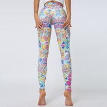Flowers Print Female Leggings Butterfly Printed Fitness Legging Breathable Pants Women Push Up High Waist