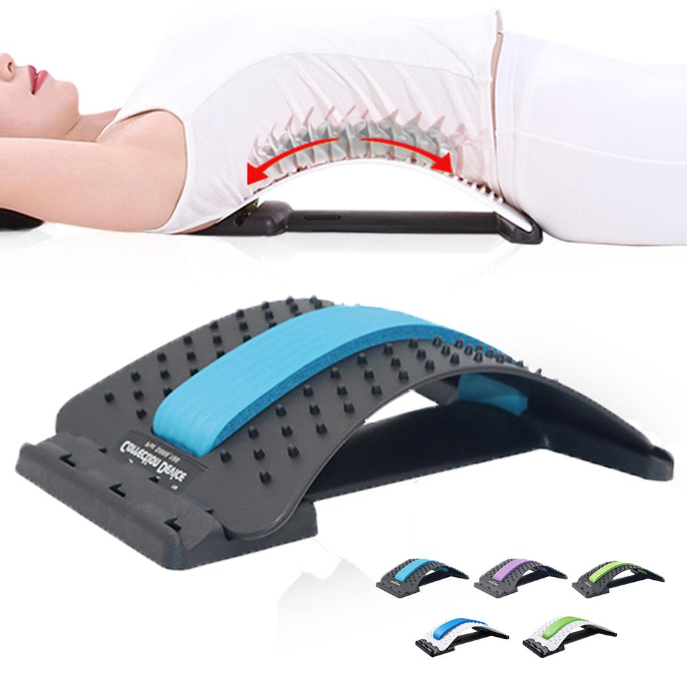 Back Stretching Board Prevention Lumbar Disc Stretcher Stretching Device Waist Neck Relax Mate Pain Relief Chiropractic