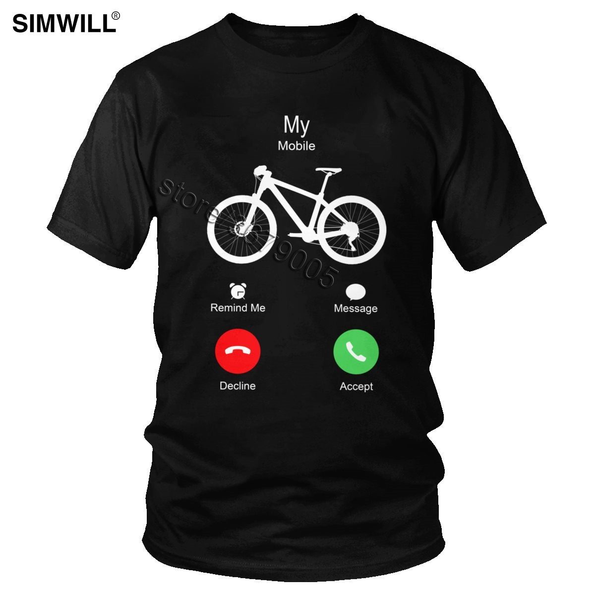 Summer Funny My MTB Mobile Is Calling To Ride Shirt Short Sleeved Mountain Bike Lover T Shirt Biking T-shirt Gift Tee Clothing