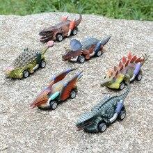 Оттягиваемая назад динозавр автомобиля игрушки динозавров из 6 шт. Roadster вечерние подарок игр игрушки строительные блоки Обучающие игрушки ...