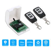 Smart Home 433Mhz RF DC 12V 2CH Learning Code Wireless Remote Control Switch Relay Receiver Transmitter Remote Switch