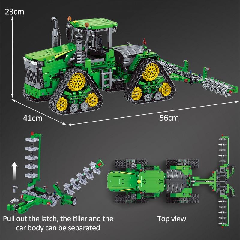 Winner RC Engineering Vehicle Crawler Tractor Excavating Machinery Car Building Blocks
