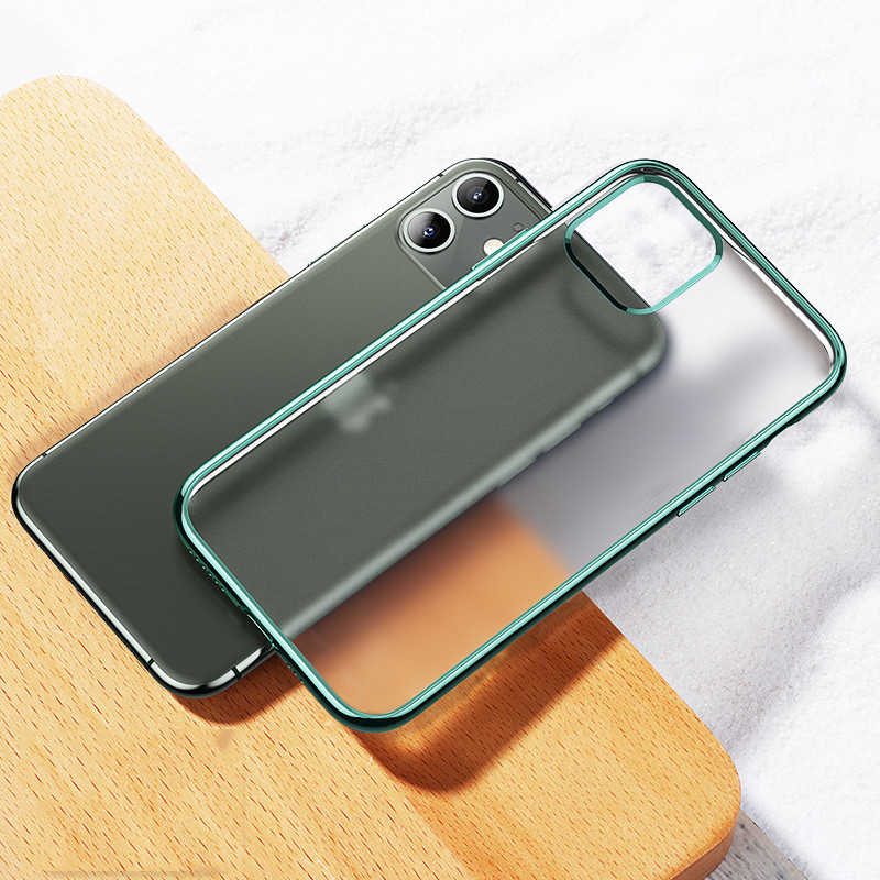 For iPhone 11 Pro Case Luxury Laser Plating Soft Semi-transparent Matte TPU Back Cover For Apple iPhone 11 Pro Max Phone Cases