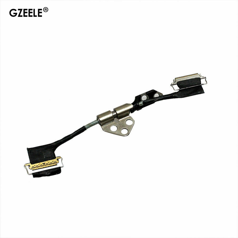 GZEELE New For MacBook Pro Retina A1398 LCD screen Display LVDS Flex Cable + Hinge 15 2012 2013 2014 2015 A1398 A1425 A1502 image