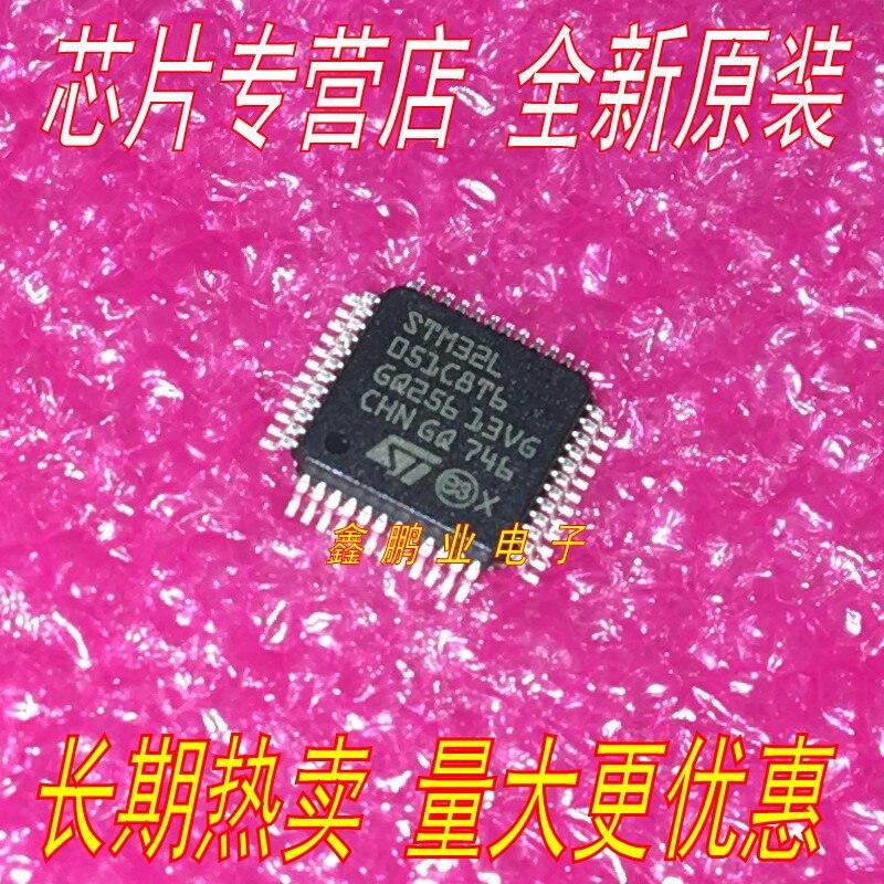 5 Pezzi STM32L051C8T6 LQFP48 Mcu