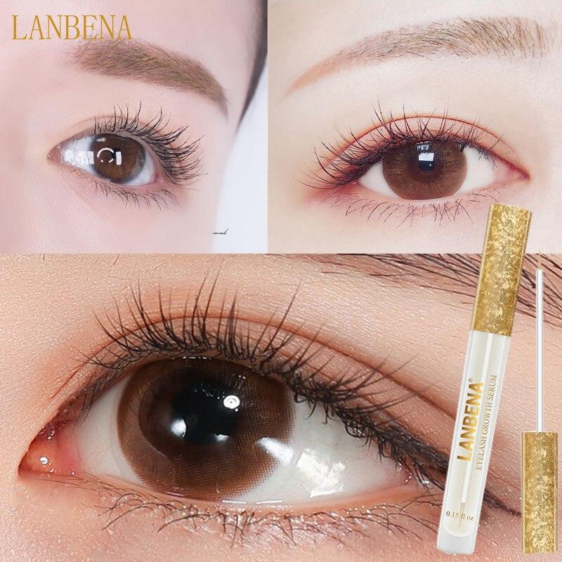 LANBENA Eyelash Growth Eye Serum 7 Day Eyelash Enhancer Longer Fuller Thicker Lashes Eyelashes Eyebrows Enhancer Eye Care liquid