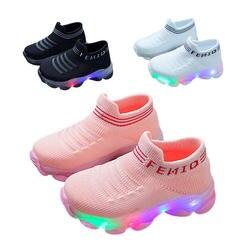 Кроссовки для новорожденных; зимние хлопковые носки для маленьких девочек с резиновой подошвой; забавная обувь для малышей; домашние