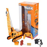 OCDAY Kids RC Car Toys 12 Channel RC Excavator Wireless Remote Control Electric Engineering Vehicles Charging With Battery RTG