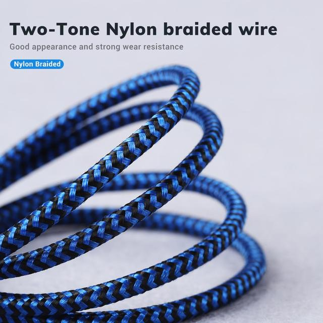 TOPK Micro USB Cable & Type C Cable 3A Fast Charging for Samsung Xiaomi Mobile Phone Data Cable Type-C for Xiaomi Redmi Note 8 4