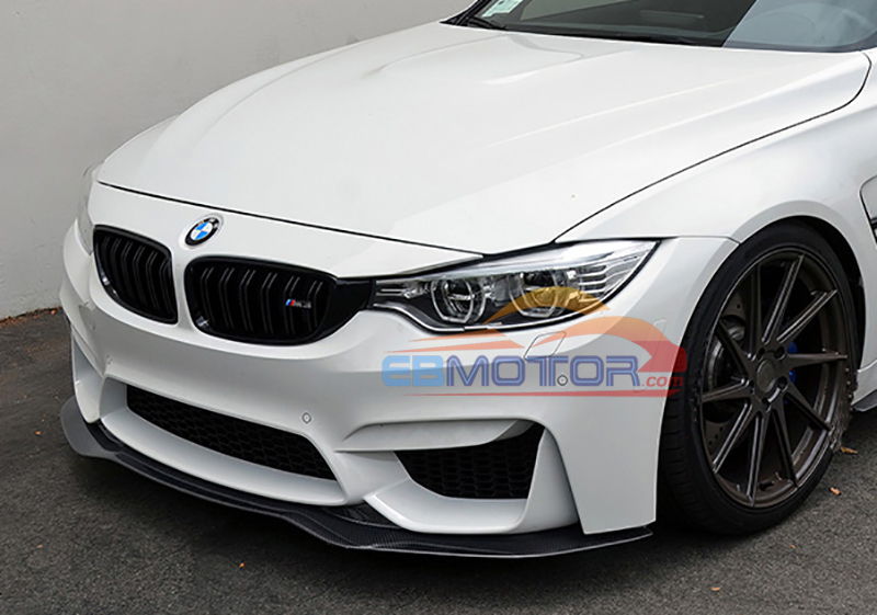 PAINTED PS Style fiber glass Front lip spoiler For BMW F80 M3 F82 M4 2014UP B451F image