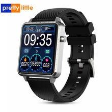 1.54 Inch Full Touch Screen Smart Horloge Mannen RC01 Voor Apple Horloge Android Ios Hartslag Bloeddrukmeter Smartwatch mannen