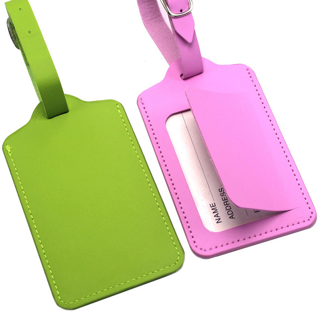 PU Leather Suitcase Luggage Tag Label Bag Pendant Handbag Portable Travel Accessories Name ID Address Tags High Quality 2