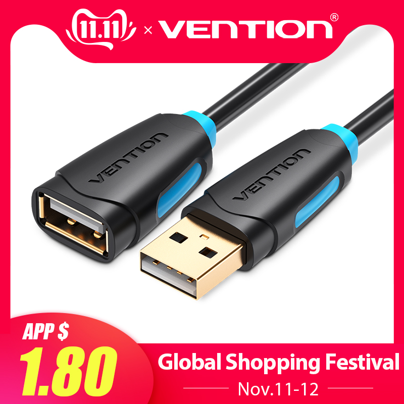 Vention USB 2.0 Extension Cable Male To Female USB Cable Extend USB Extension Cable 1m 1.5m 2m 3m Cord Extender For PC Laptop HD