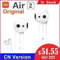 Original Xiao mi Air 2 TWS Airdots Pro 2 mi Air 1 Wahre Drahtlose Kopfhörer ENC Bluetooth 5 Tap Control voice Control LHDC Dyna mi c