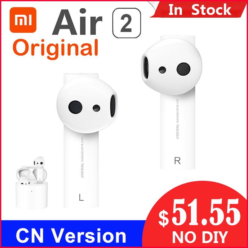 Xiao Air 2 TWS Airdots Pro 2 mi Air 1, écouteurs sans fil véritables sans fil, Bluetooth 5 robinets à commande de la voix