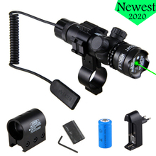 ที่มีประสิทธิภาพยุทธวิธีสีเขียว/Red Dot Laser Sight Rail Barrel Mountสวิทช์ความดันระยะไกลสำหรับPicatinny Rifleการล่าสัตว์