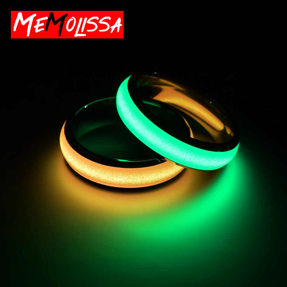 Nieuwigheid Roestvrij Staal Lichtgevende Ringen Rvs Noctilucent Tabs Mannen Ring Anillos Mujer Bague Femme
