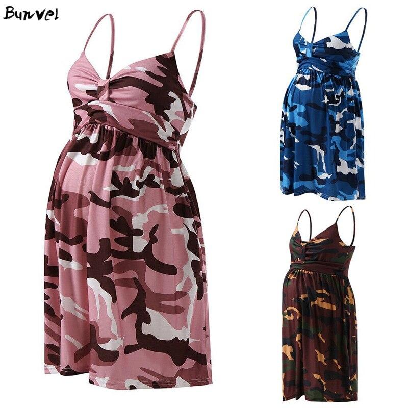 Bunvel Plus Size Camouflage Maternity Dress V Neck A Line Mini Pregnant Summer Beach Dresses Vintage Sundress Vestidos Dresses Aliexpress