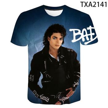 2020 Michael Jackson 3D drukuj T Shirt mężczyźni kobiety moda dziecięca Hip-Hop koszulka Streetwear koszulki Harajuku Homme fajne topy tanie i dobre opinie SHORT Z okrągłym kołnierzykiem Conventional Sukno COTTON Z OCTANU Na co dzień Michael Jackson T-shirt XXS XS S M L XL XXL XXXL 4XL