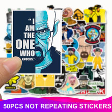 50pcs Pack Breaking Bad Stickers Waterproof PVC Skateboard Suitcase Motorcycle Luggage Laptop Bicycle Stickers Kids Classic