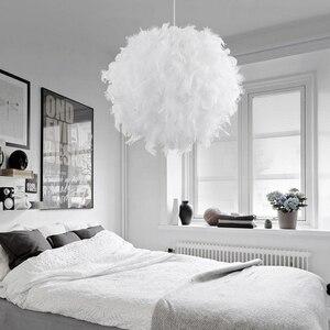 Image 1 - 220 v 現代ペンダント天井ランプ羽天井つりランプの寝室の勉強部屋の装飾クリエイティブシャンデリアハンギングランプ