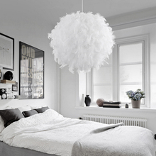 220V Modern Pendant Ceiling Lamp Feather Ceiling Droplight Bedroom Study Room Decoration Creative Chandelier Hanging Lamp