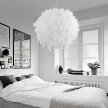 220V Moderne Anhänger Decke Lampe Feder Decken Drop Schlafzimmer Studie Zimmer Dekoration Kreative Kronleuchter Hängen Lampe