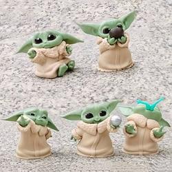 5 Pçs/set Bebê Grogu Action Figure Toys 5-6 centímetros Yoda Yoda Star Wars Figuras de Ação Brinquedos Do Bebê Quente Crianças Brinquedos Presentes de Natal