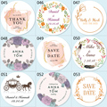 100ps, Custom Sticker, Customized Wedding Stickers, Invitations Seals, Candy Favors Gift Boxes Labels, On White Adhesive