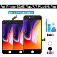 Ecran LCD tactile complet écran ESR numériseur AAAA + montage-Module pour iPhone 6S 7 8 PLUS remplacement noir blanc complet
