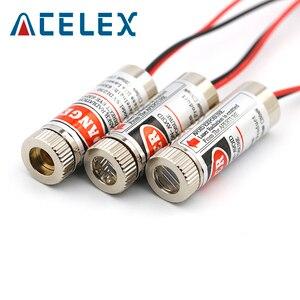 Image 5 - 5mW 650nm kırmızı çizgi lazer modülü odak ayarlanabilir lazer diyot kafa endüstriyel çap 12MM 5V Metal cam lens kafa
