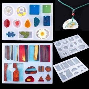 Image 2 - Handmade Crystal Glue Mould Mold Set Resin Jewelry Mold Kit 83pcs Bracelet Pendant Silicone Molds CX17