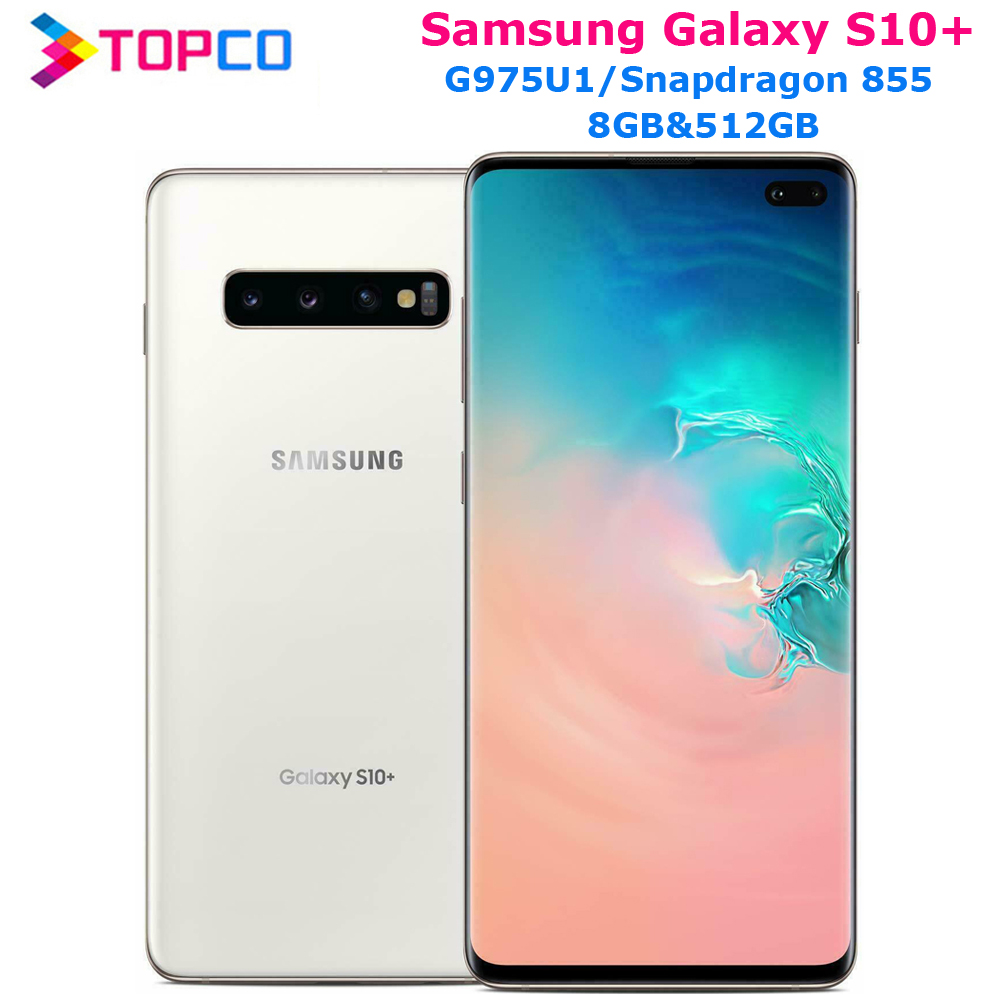 "Samsung Galaxy S10+ S10 Plus G975U 512GB G975U1 Unlocked Mobile Phone Snapdragon 855 Octa Core 6.4"" 16MP&Dual 12MP 8GB&512GB NFC(China)"
