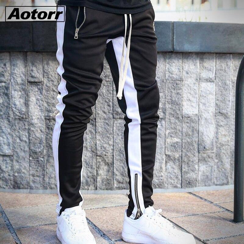 Мужские штаны с полосками, модные штаны с карманами модная повседневная Уличная одежда брюки для девочек брюки в стиле «хип-хоп» на молнии с...