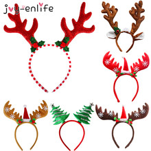 Christmas Headband Reindeer Xmas Tree Headwear Hair Band Decorations Children Costume Party New Year Navidad gift