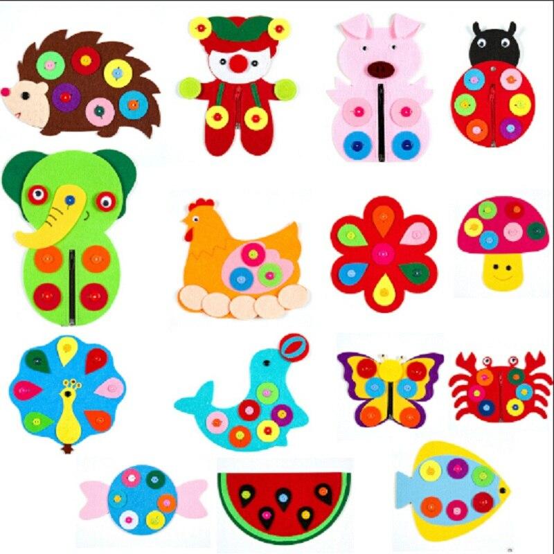 DIY Learning Education Grasping Creativity Developing Handmade Cartoon Color Shape Hand Bag Art Craft Toys For Children Kid Gift