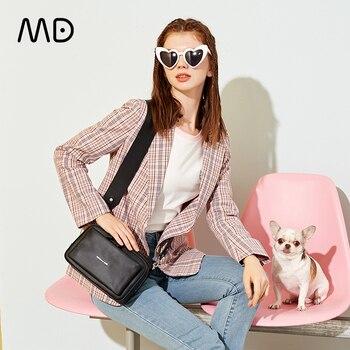 Mandarina Duck Newest Style Lady Genuine Leather Shoulder Bag Leather Crossbody Bag for Lady