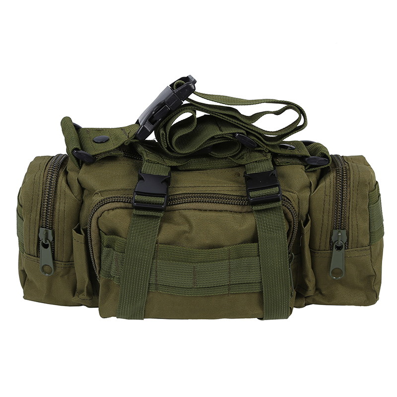 Camping Hiking BikeTrekking Sport Military Army Bum Travel Waist Bag - Green