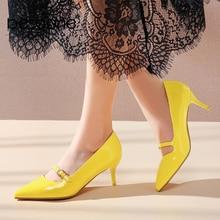 BESCONE Fashion Women Pumps Handmade Shallow Buckle Thin Heel Shoes New Basic Sexy Pointed Toe Dress High Heel Ladies Pumps BM78