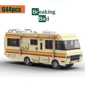 New MOC-20606 Drama Breaking Bad RV Classic Walter White Pinkman Cooking Lab RV Technic ideas Building Block Brick Toy Kid Gift