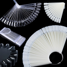 Ensemble de faux ongles pour couverture complète, moule pour Extension, Gel UV acrylique, transparent, naturel, pour pratique de la manucure, 1 pièce, LE386