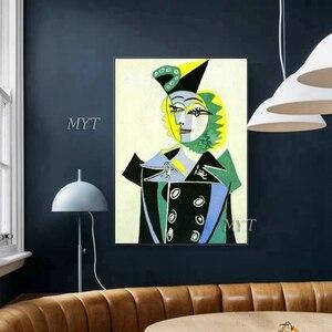 Image 2 - جديد مجردة الشكل الفن اليدوية بيكاسو لوحات الاستنساخ الحديثة النفط الطلاء قماش جدار ديكور فني للمنزل جدار صور الفن