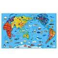 Carte du monde Puzzles magnétiques enfants jouet Montessori matériaux jouets éducatifs pour enfants aimant monde culturel aides pédagogiques