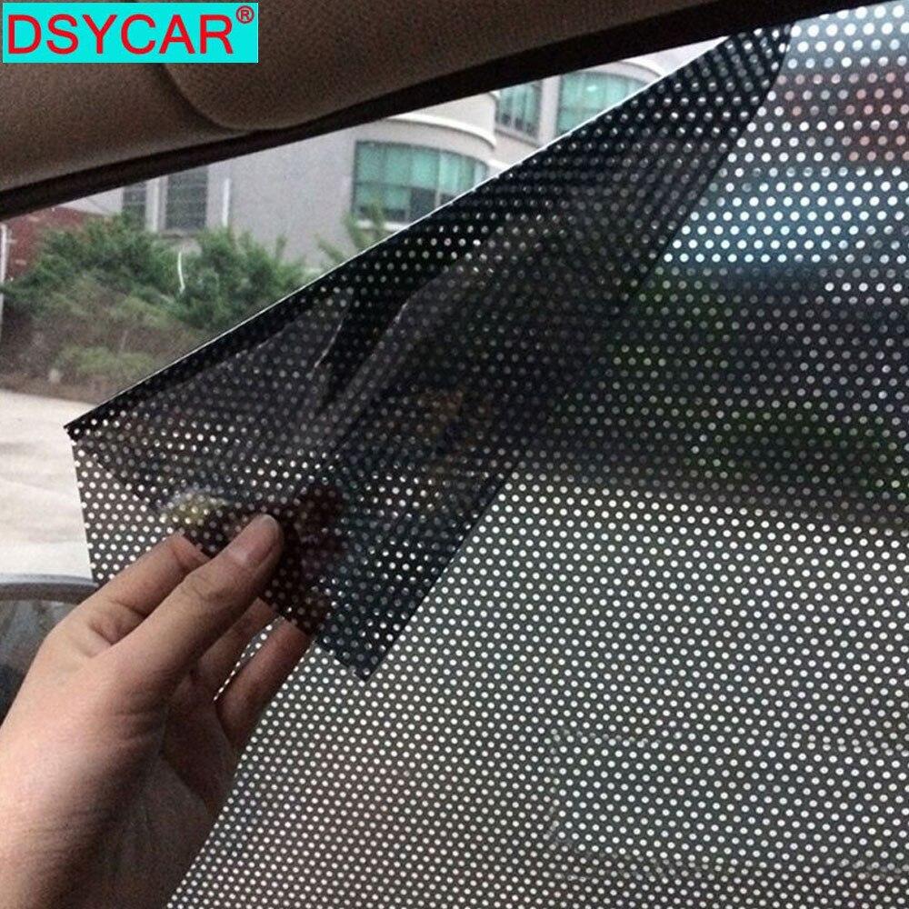 DSYCAR 1 paire mode voiture parasol autocollant maille voiture électrostatique soleil ombrage autocollants Film d'isolation thermique réutilisable écran s'accrochent
